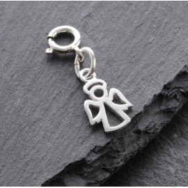 Sterling Silver Clip On Angel Charm
