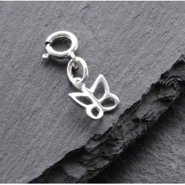 Sterling Silver Clip On Butterfly Charm
