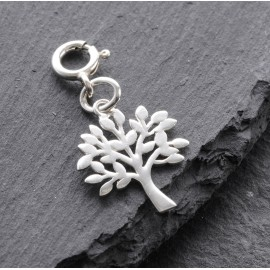 Sterling Silver Clip On Tree of Life Charm
