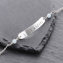Sterling Silver Love & Light Toggle Bracelet