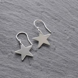 Sterling Silver Star (large) Earrings