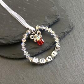Swarovski Present (Small) Personalised Decoration