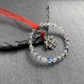 Swarovski & Tibetan Christmas Decoration - Present