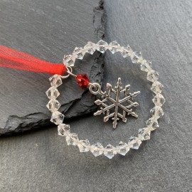 Swarovski & Tibetan Christmas Decoration - Snowflake2