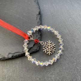 Swarovski & Tibetan Christmas Decoration - Snowflake6