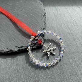 Swarovski & Tibetan Christmas Decoration - Snowflake3