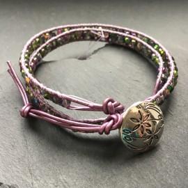 Preciosa Crystal Wrap Bracelet - Lilac