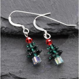 Swarovski Christmas Earrings - Tree (small)