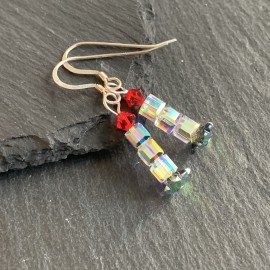 Swarovski Christmas Earrings - Candle