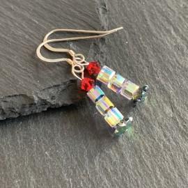 Swarovski Christmas Earrings - Candle