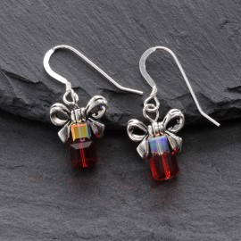 Swarovski Christmas Earrings - Present (small)