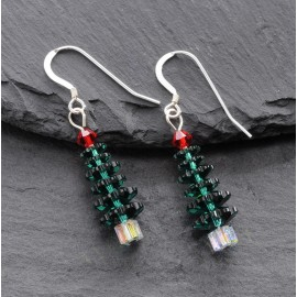 Swarovski Christmas Earrings - Tree (large)