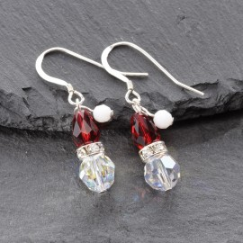 Swarovski Christmas Earrings - Santa