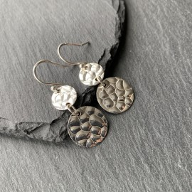 Sterling Silver Bubble Texture Earrings