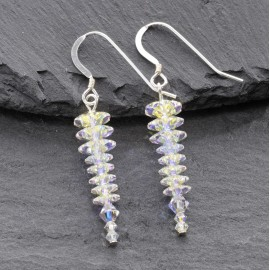 Swarovski Christmas Earrings - Icicle