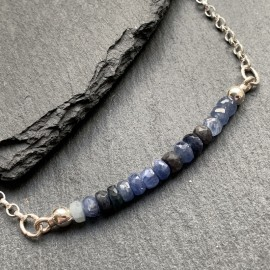 Sterling Silver and Sapphire Necklace