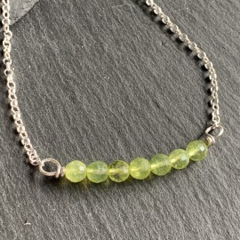 Sterling Silver and Peridot Necklace