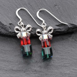 Swarovski Christmas Earrings - Present (large)