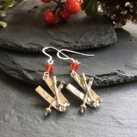 Ski Charm Earrings