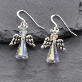 Swarovski Christmas Earrings - Angel