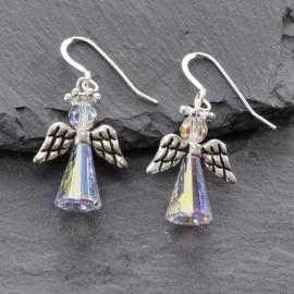 Swarovski Christmas Earrings - Angel