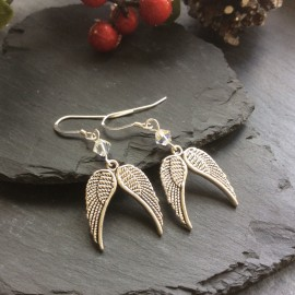 Angel Wings Charm Earrings