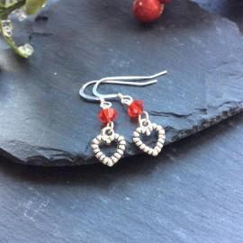 Heart Small Charm Earrings