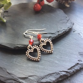 Heart Large Charm Earrings