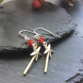Fairy Wand Charm Earrings