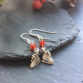 Ice Skate Charm Earrings
