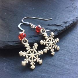Snowflake (4) Charm Earrings
