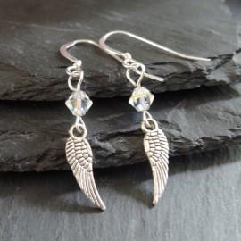 Angel Wing Small Charm Earrings