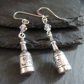 Wine Bottle Charm Earrings
