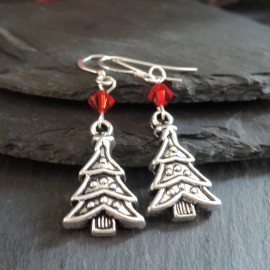 Christmas Tree (3) Charm Earrings