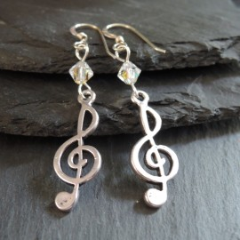 Treble Clef Charm Earrings