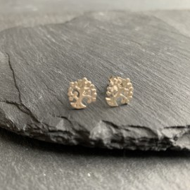 Sterling Silver Studs - Tree Curly