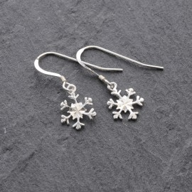 Sterling Silver Snowflake (Cut) Earrings
