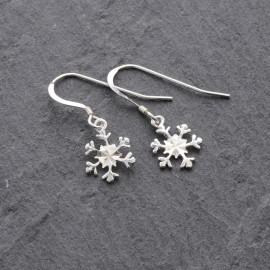 Sterling Silver Snowflake (Cut) Earrings