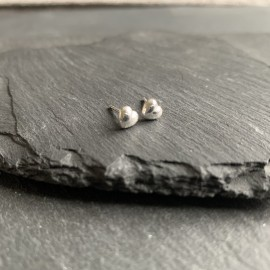 Sterling Silver Studs - Heart
