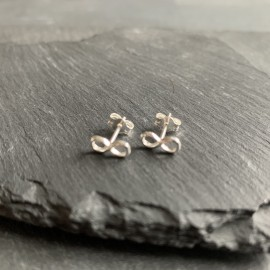 Sterling Silver Studs - Infinity