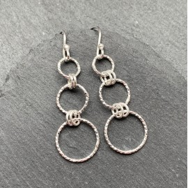 Sterling Silver Diamond Cut Earrings