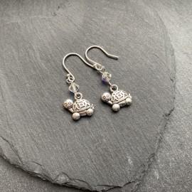 Tortoise Charm Earrings