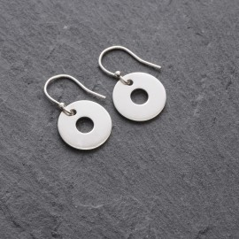 Sterling Silver Small Washer Earrings