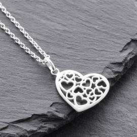 Sterling Silver Multi Heart Pendant